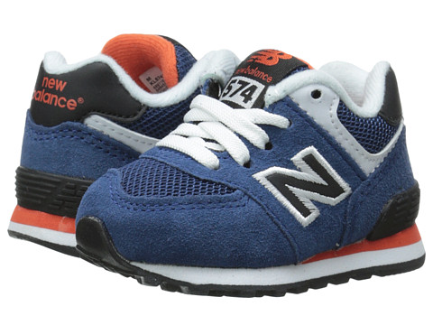 New Balance Kids - KL574 (Infant/Toddler) (Blue/Black) Boys Shoes