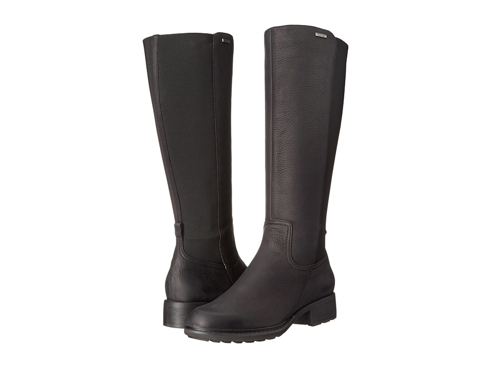Rockport First Street Waterproof Gore Tall Boot Wide Calf (Black Waxy Pull WP WL WC) Women