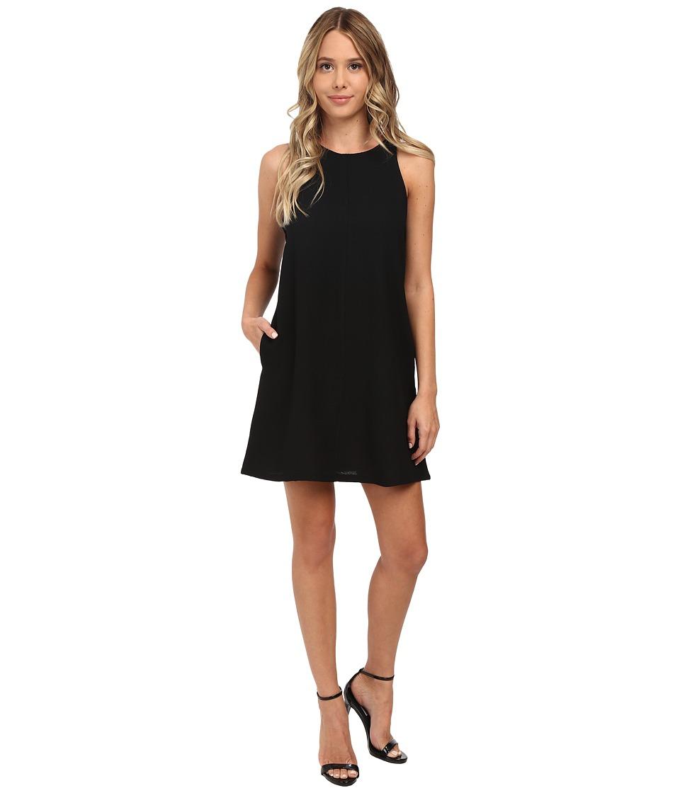 Brigitte Bailey Crepe Tank A-Line w/ Pockets Dress (Black) Women