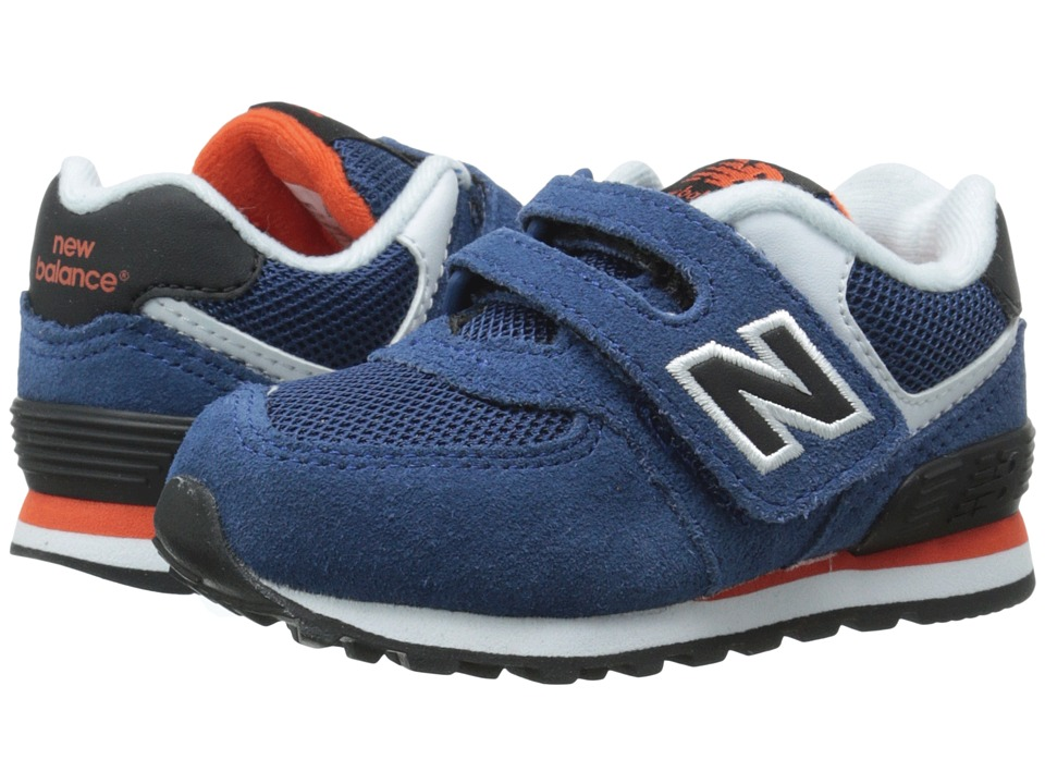 New Balance Kids - KG574 (Infant/Toddler) (Blue/Black) Boys Shoes