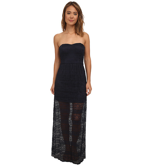 Gabriella Rocha - Lace Tube Maxi w/ Bow Cutout Back Dress (Midnight) Women's Dress