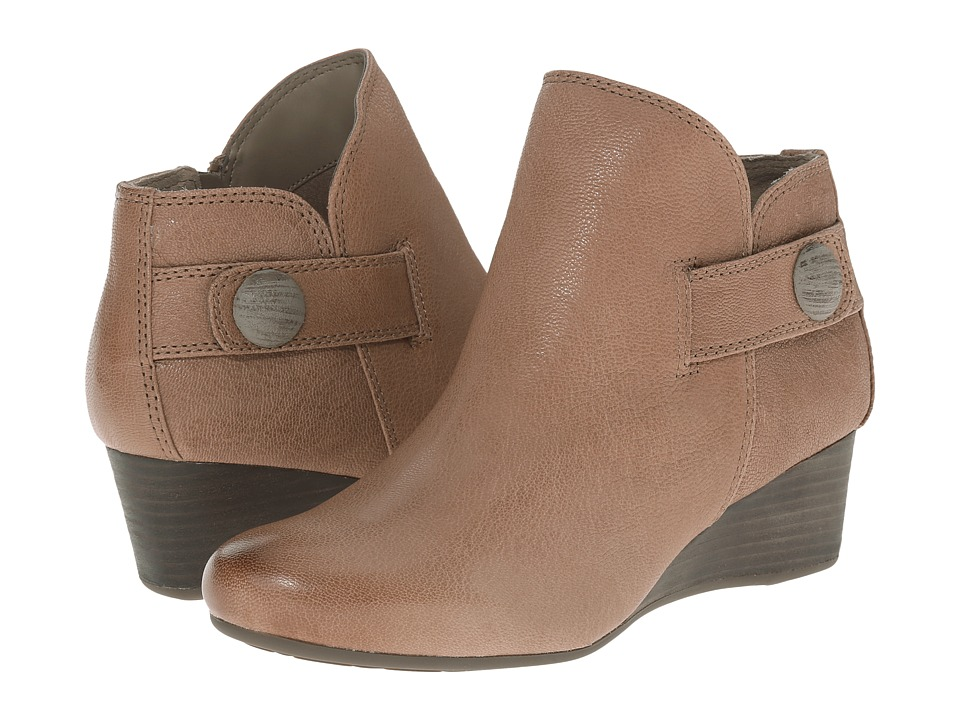 Rockport Total Motion 45mm Wedge Stone Bootie (M Grey Dist Goat) Women