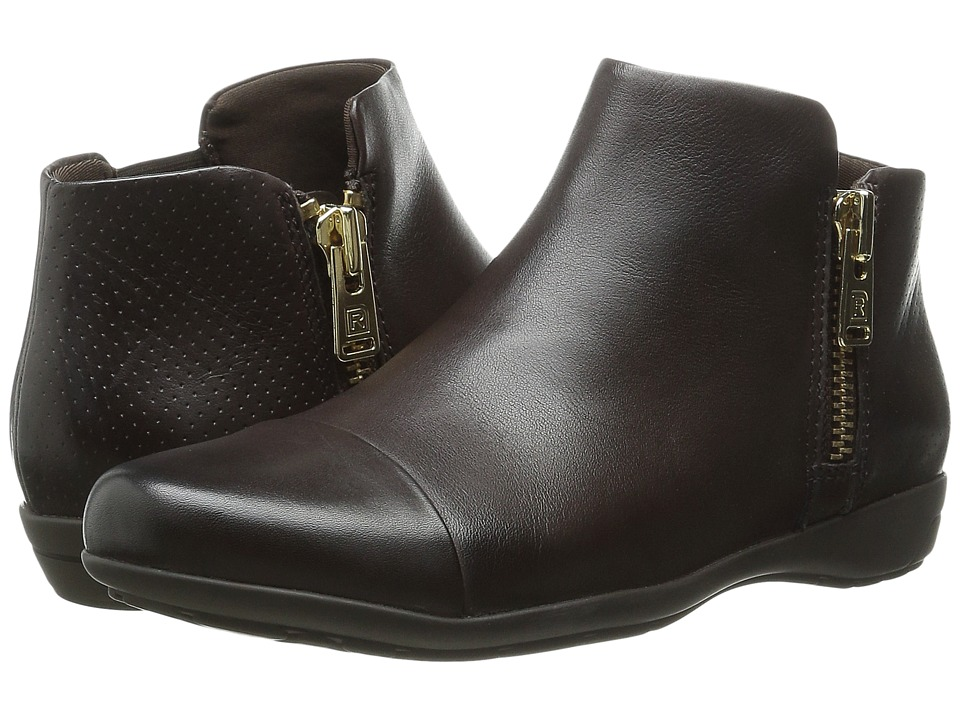 Rockport - Total Motion Nea Cap Toe Bootie (Ebano Calf) Women's Zip Boots