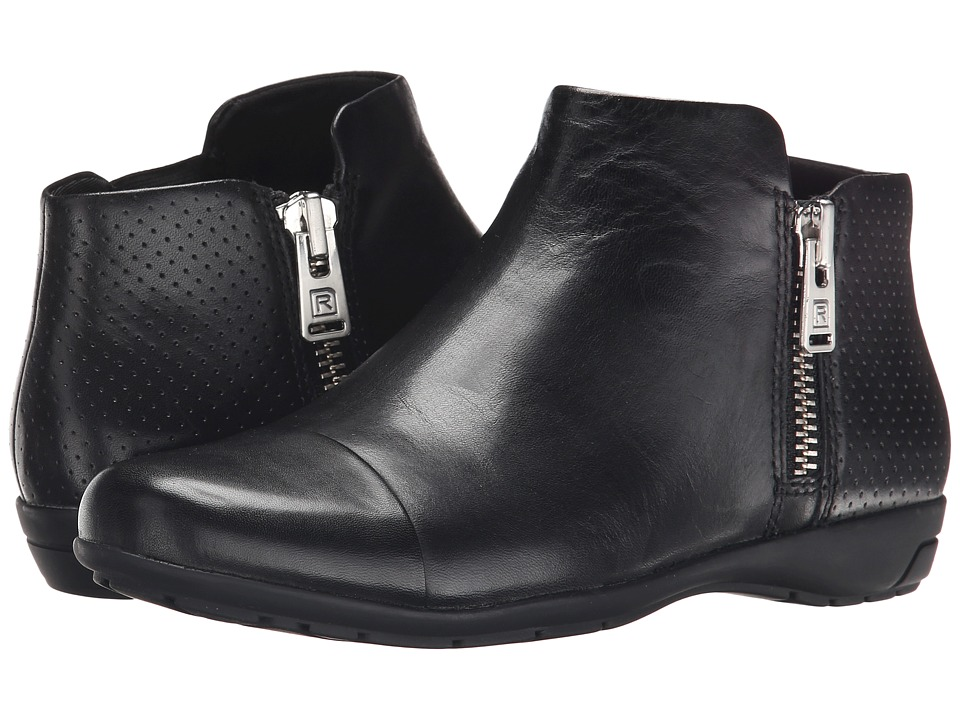 Rockport Total Motion Nea Cap Toe Bootie (Black Calf) Women