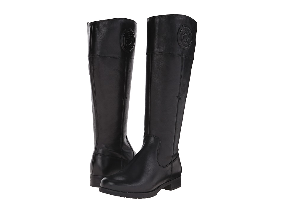 Rockport Tristina Rosette Tall Boot Wide Calf (Black Cas Leather WL WC) Women