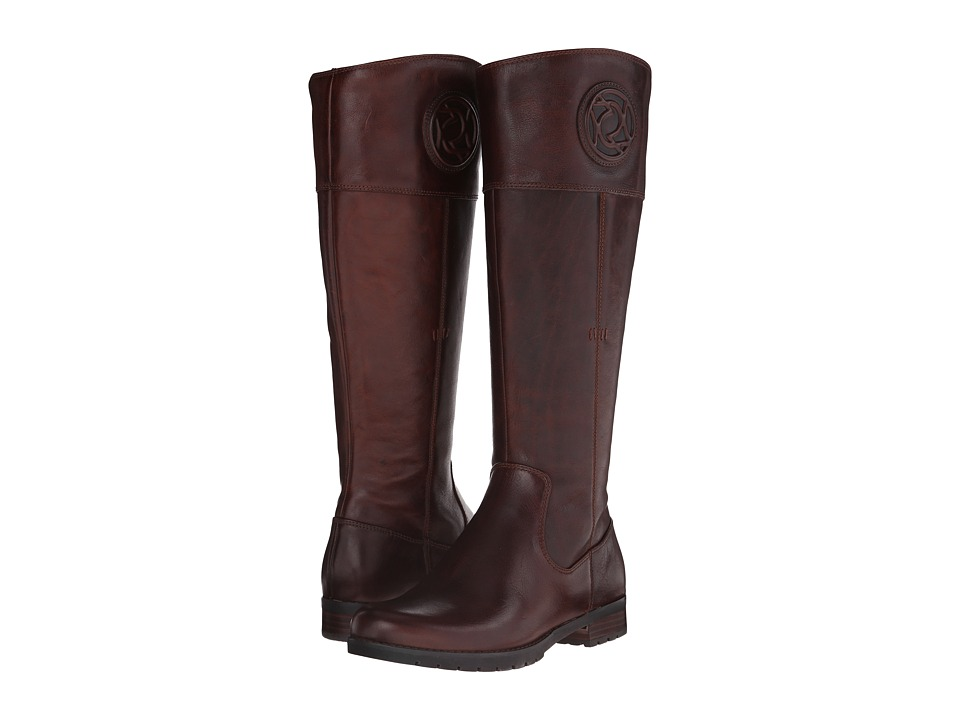 Rockport Tristina Rosette Tall Boot Wide Calf (B Sugar Cas Leather WL WC) Women