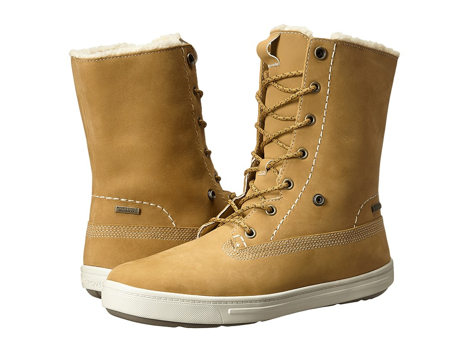 Rockport - Truwalkzero Cupsole Fur Bootie (Mustard Smooth Nubuck WP WL) Women's Boots