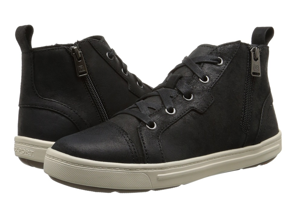 Rockport - Truwalkzero Cupsole Hi Top (Black Dist Leather) Women's Shoes