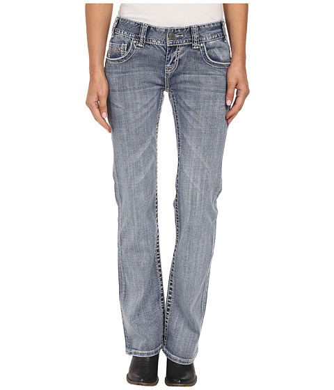 Rock and Roll Cowgirl - Low Rise Bootcut in Light Wash W0-2448 (Light Wash) Women