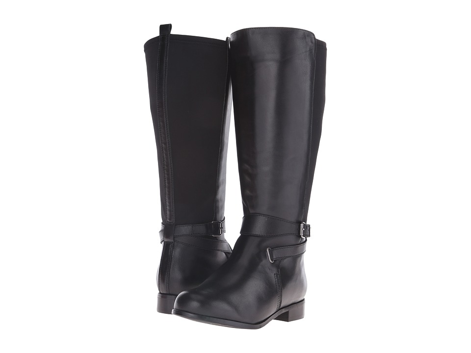 Rose Petals - Tamara Boot (Black Nappa/Black Stretch) Women