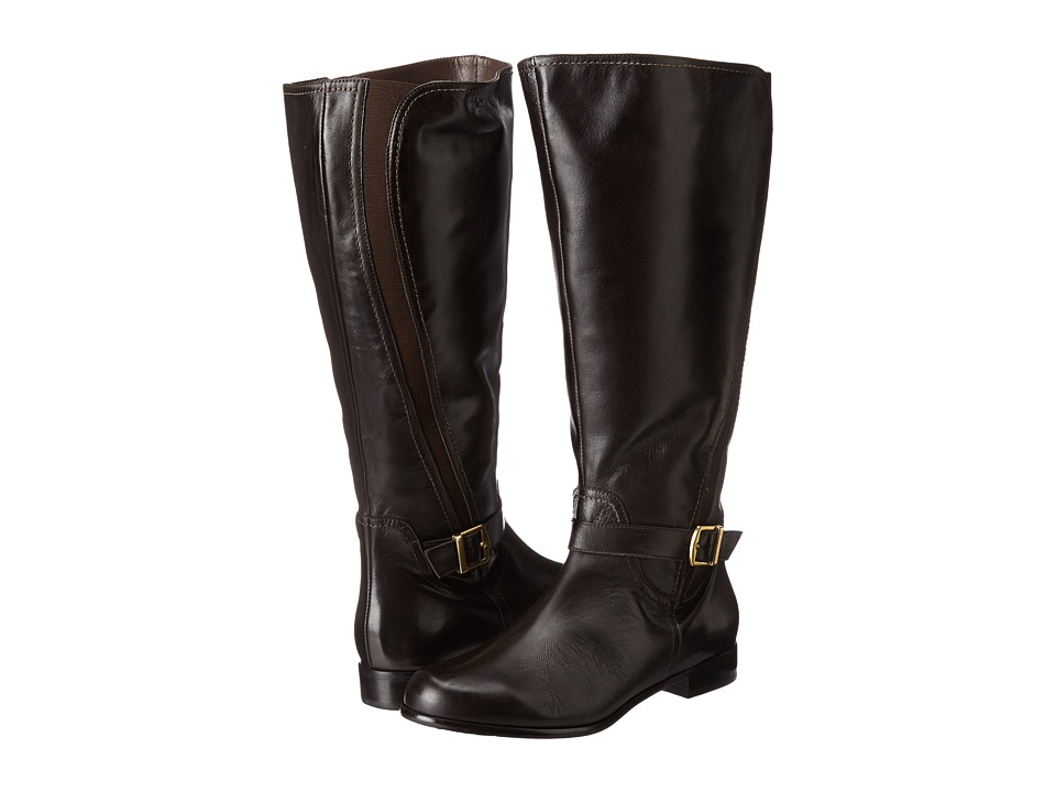 Rose Petals - Tessla Wide Shaft Boot (Brown Nappa) Women's Boots