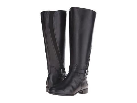 Rose Petals - Tessla Wide Shaft Boot (Black Nappa) Women's Boots