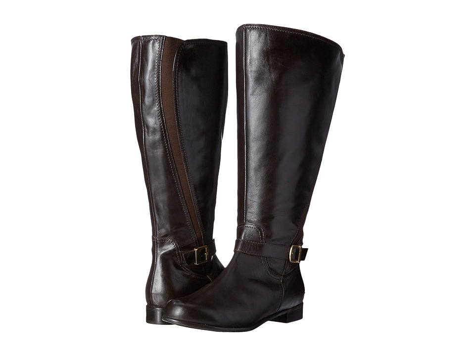 Rose Petals - Tessla Extra Wide Shaft Boot (Brown Nappa) Women's Boots