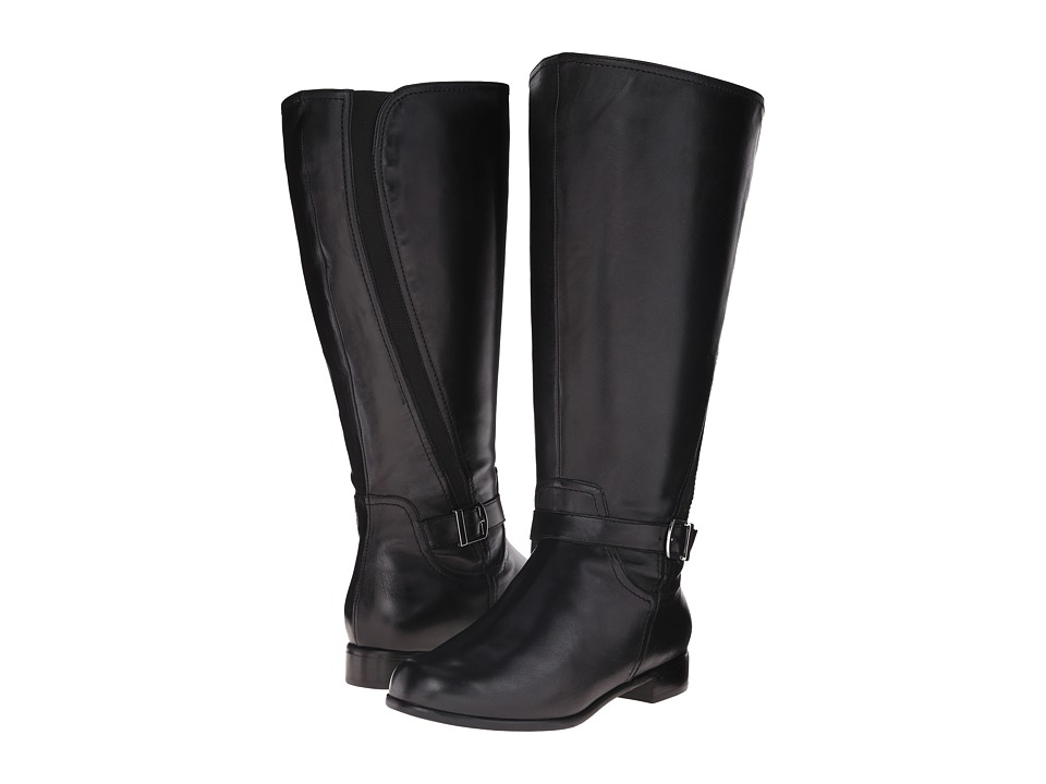 Rose Petals - Tessla Extra Wide Shaft Boot (Black Nappa) Women's Boots