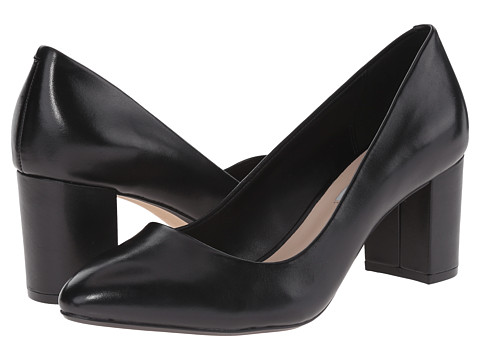 Clarks - Blissful Cloud (Black Leather) High Heels