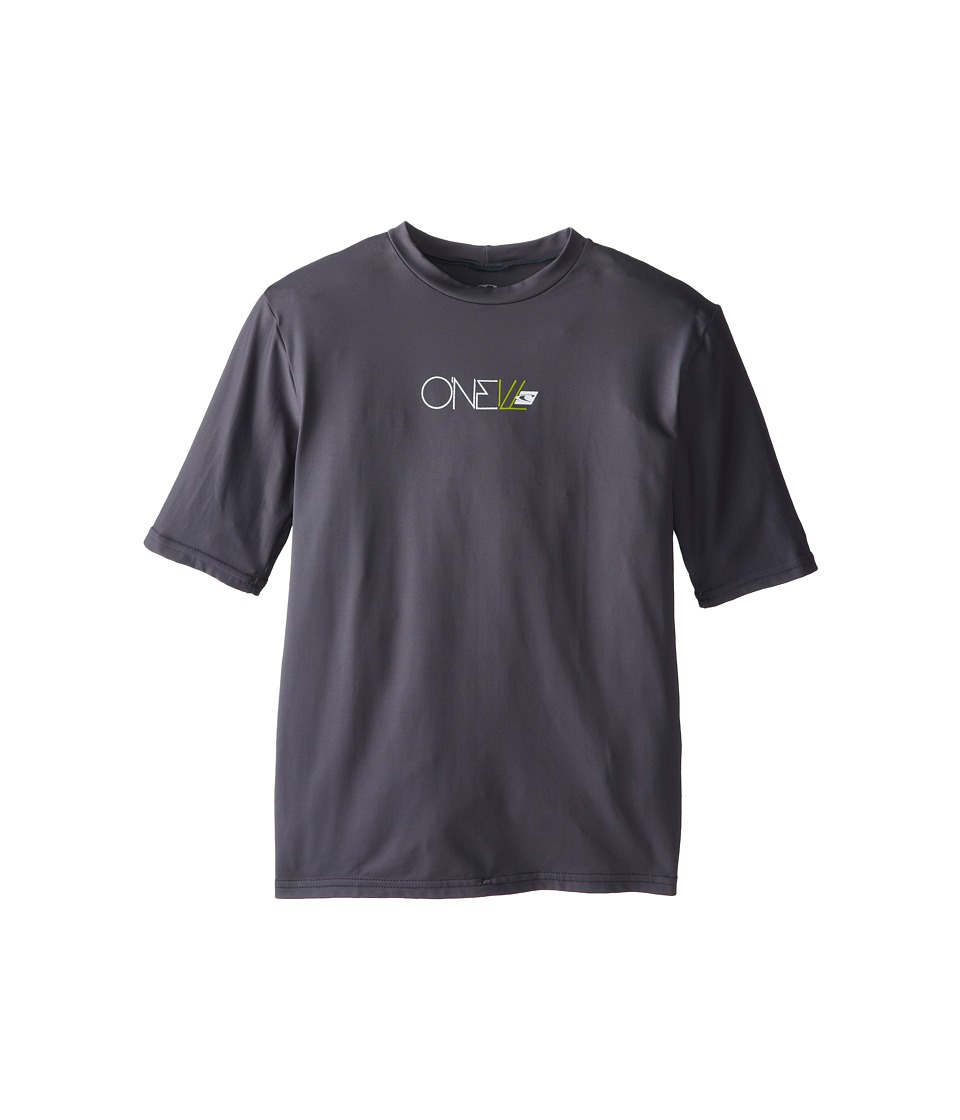 O'Neill Kids - Skins Short Sleeve Rash Tee (Little Kids/Big Kids) (Graphite) Kid's Swimwear