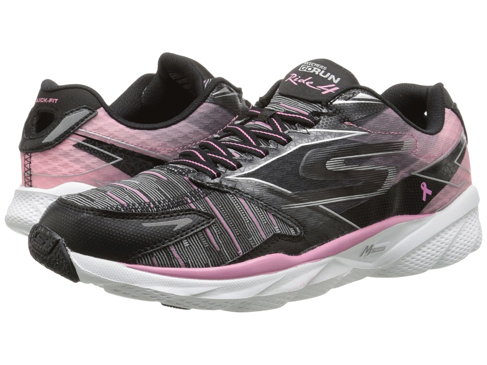 SKECHERS - Go Run Ride 4 - Resist (Black/Pink) Women's Classic Shoes