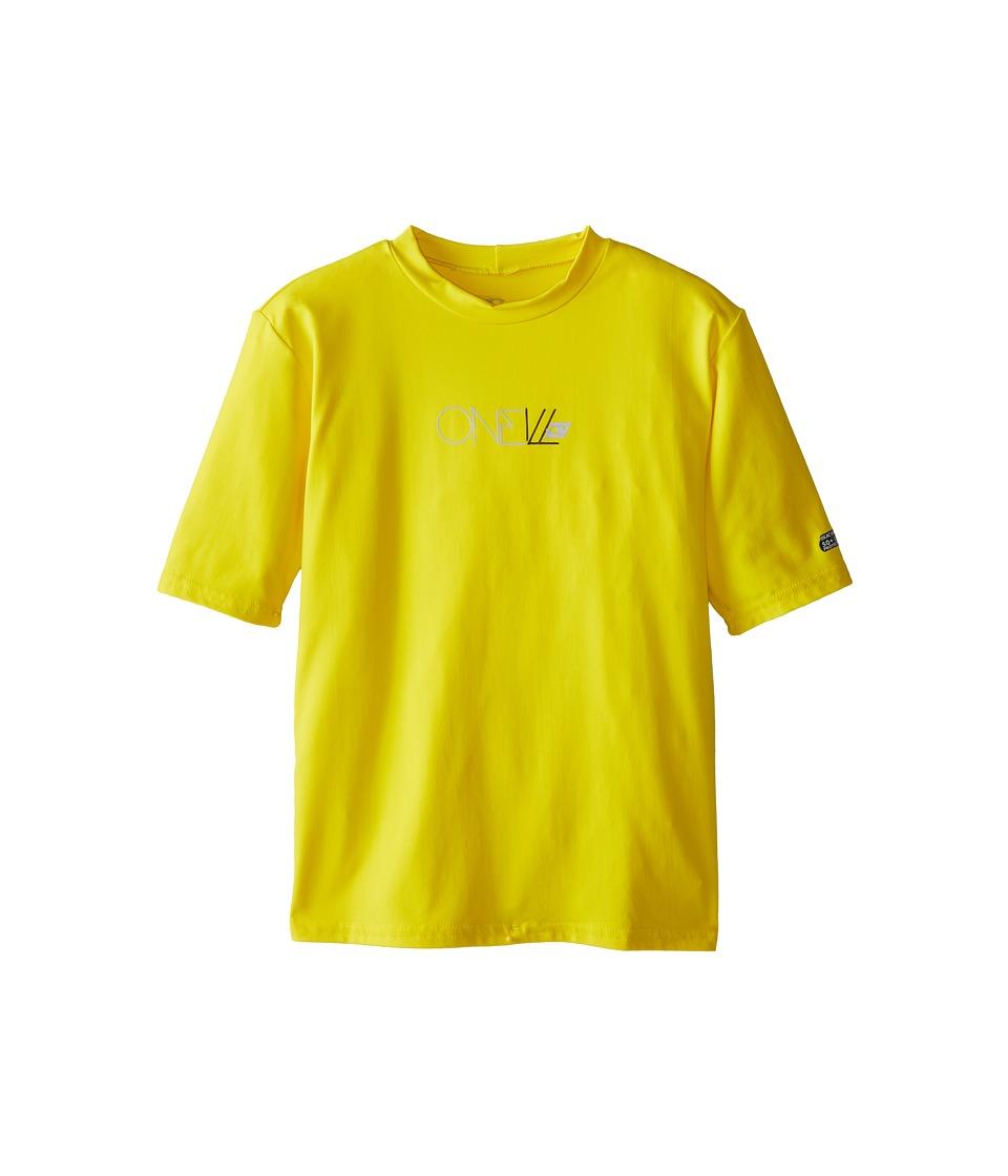 O'Neill Kids - Skins Short Sleeve Rash Tee (Little Kids/Big Kids) (Yellow) Kid's Swimwear