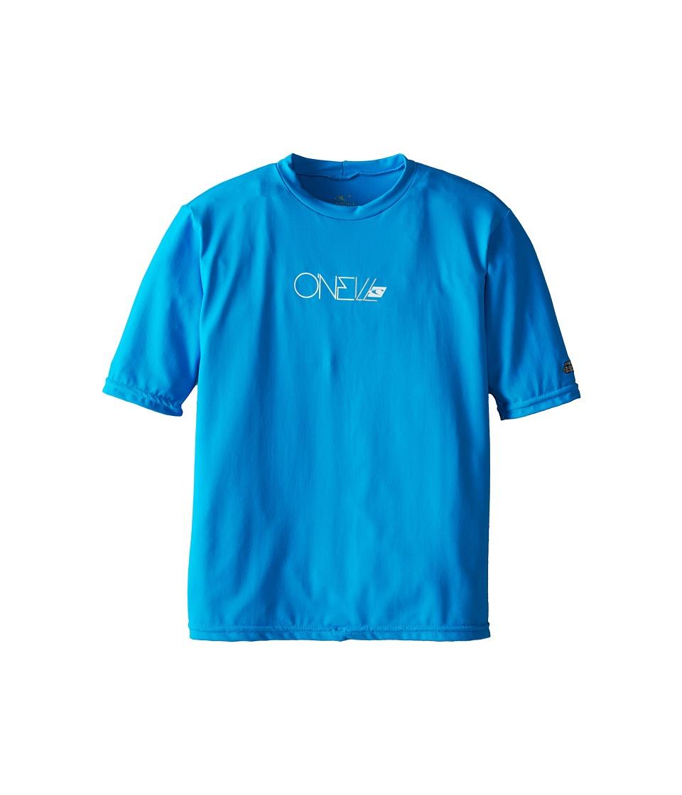 O'Neill Kids - Skins Short Sleeve Rash Tee (Little Kids/Big Kids) (Sky) Kid's Swimwear