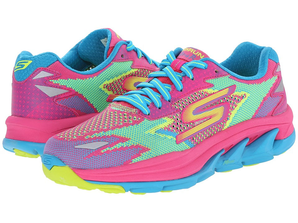 SKECHERS - Go Run Ultra - Road (Hot Pink/Turquoise) Women's Running Shoes