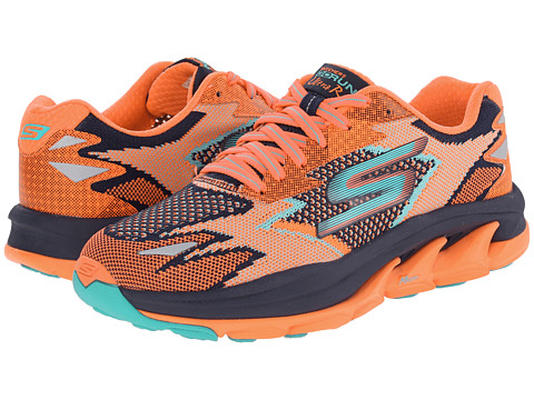 SKECHERS - Go Run Ultra - Road (Navy/Coral) Women's Running Shoes