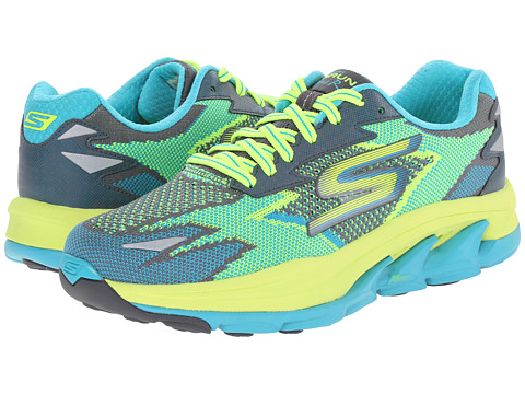 SKECHERS - Go Run Ultra - Road (Turquoise/Lime) Women's Running Shoes