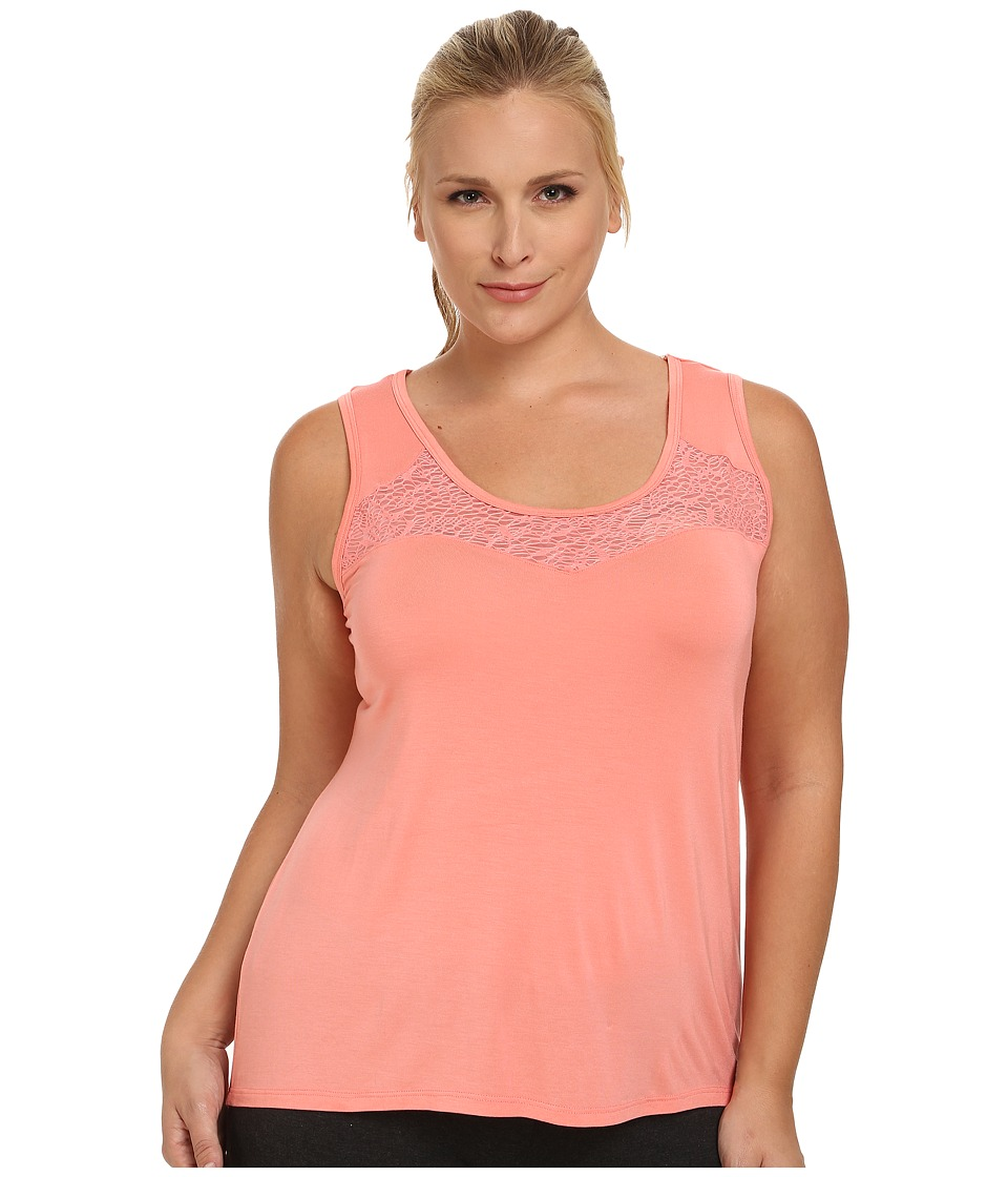 Marika Curves - Plus Size Energize Tank Top (Shell Pink) Women