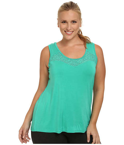 Marika Curves - Plus Size Energize Tank Top (Vivid Green) Women's Sleeveless