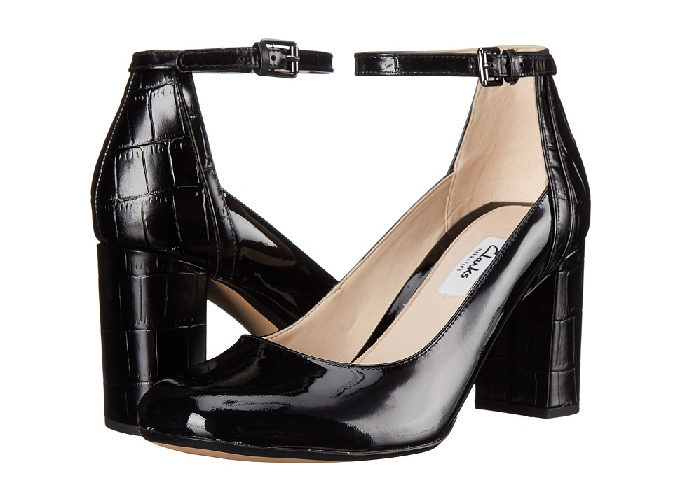 Clarks - Gabriel Candy (Black Patent Combi) High Heels