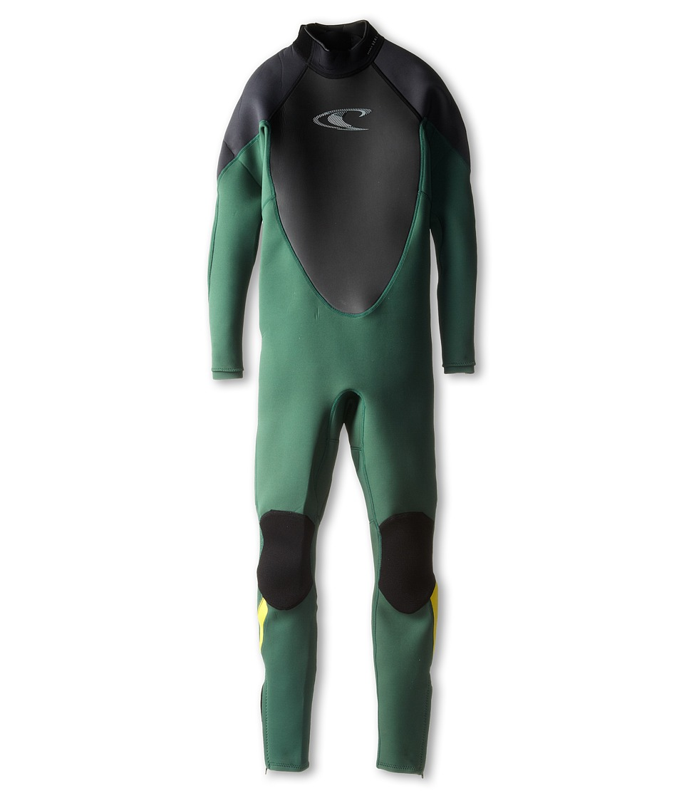 O'Neill Kids - Hammer 3/2 Full (Little Kids/Big Kids) (Combat/Graphite/Yellow) Kid's Wetsuits One Piece