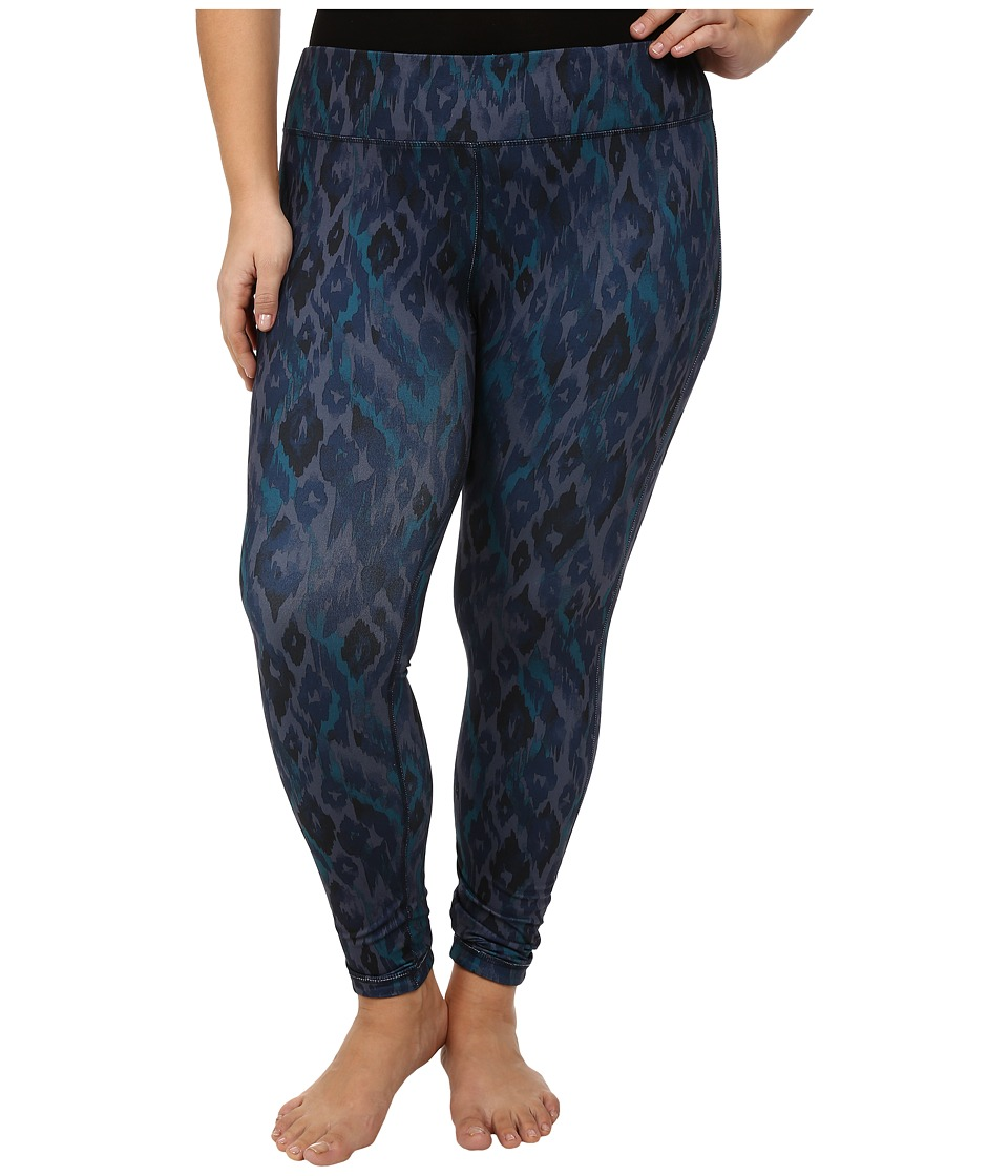 Marika Curves - Plus Size Uptown Reversible Leggings (Black Iris) Women's Casual Pants
