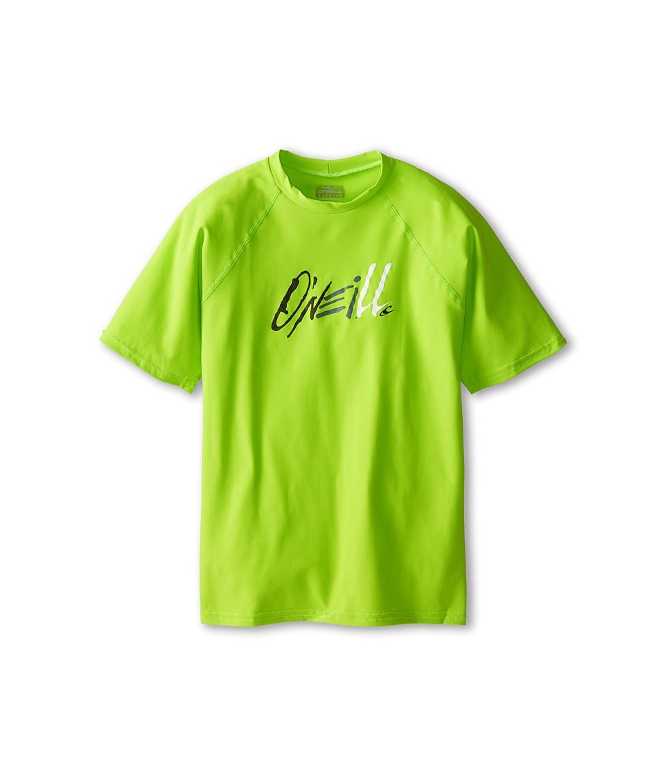 O'Neill Kids - 24-7 Tech Short Sleeve Crew (Big Kids) (Lime) Kid's Swimwear