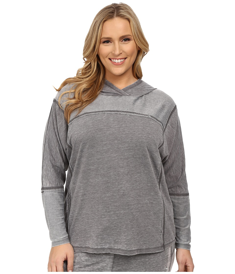 Marika Curves - Plus Size Montclare French Terry Hoodie (Heather Charcoal) Women's Sweatshirt