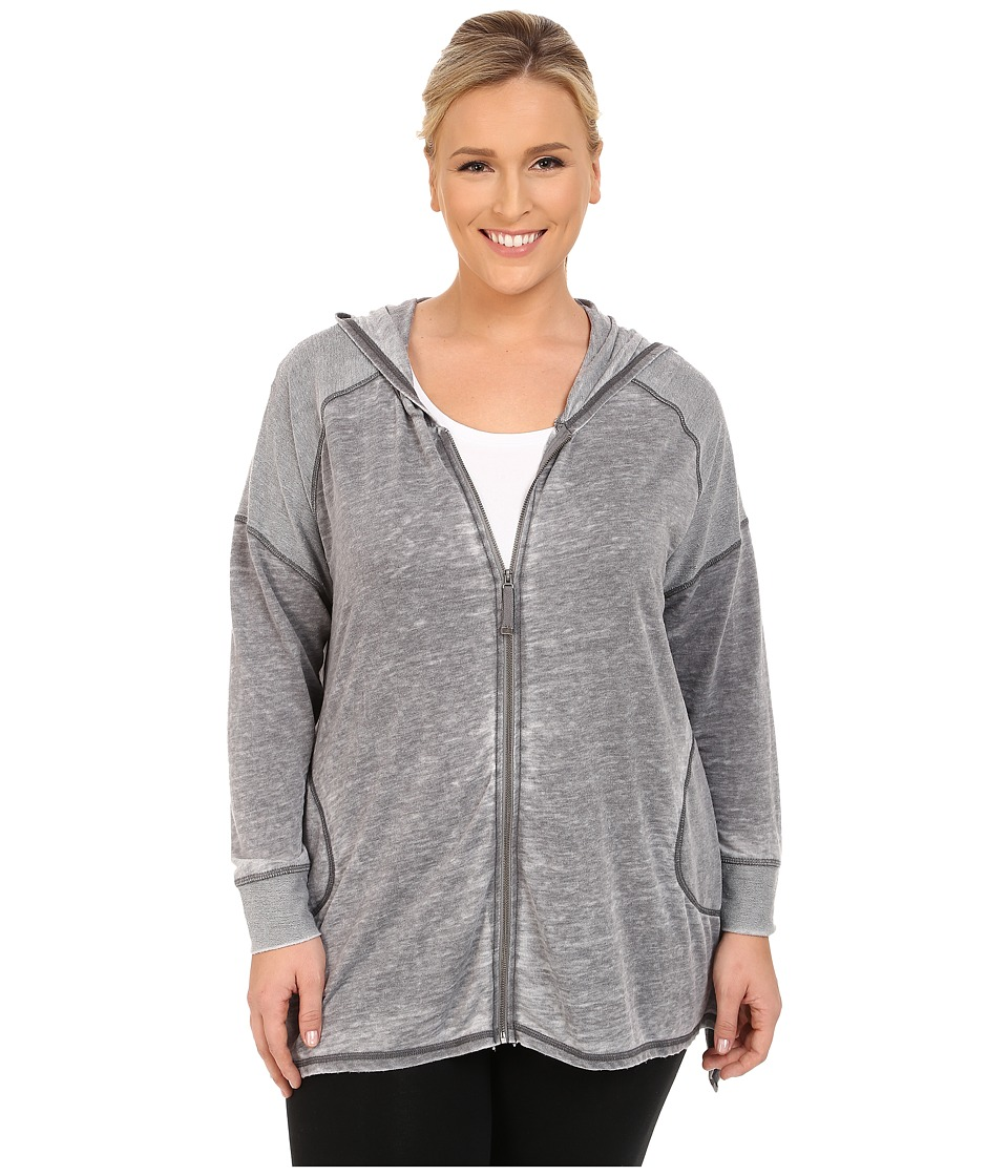Marika Curves - Plus Size Ashburn French Terry Jacket (Heather Charcoal) Women's Coat