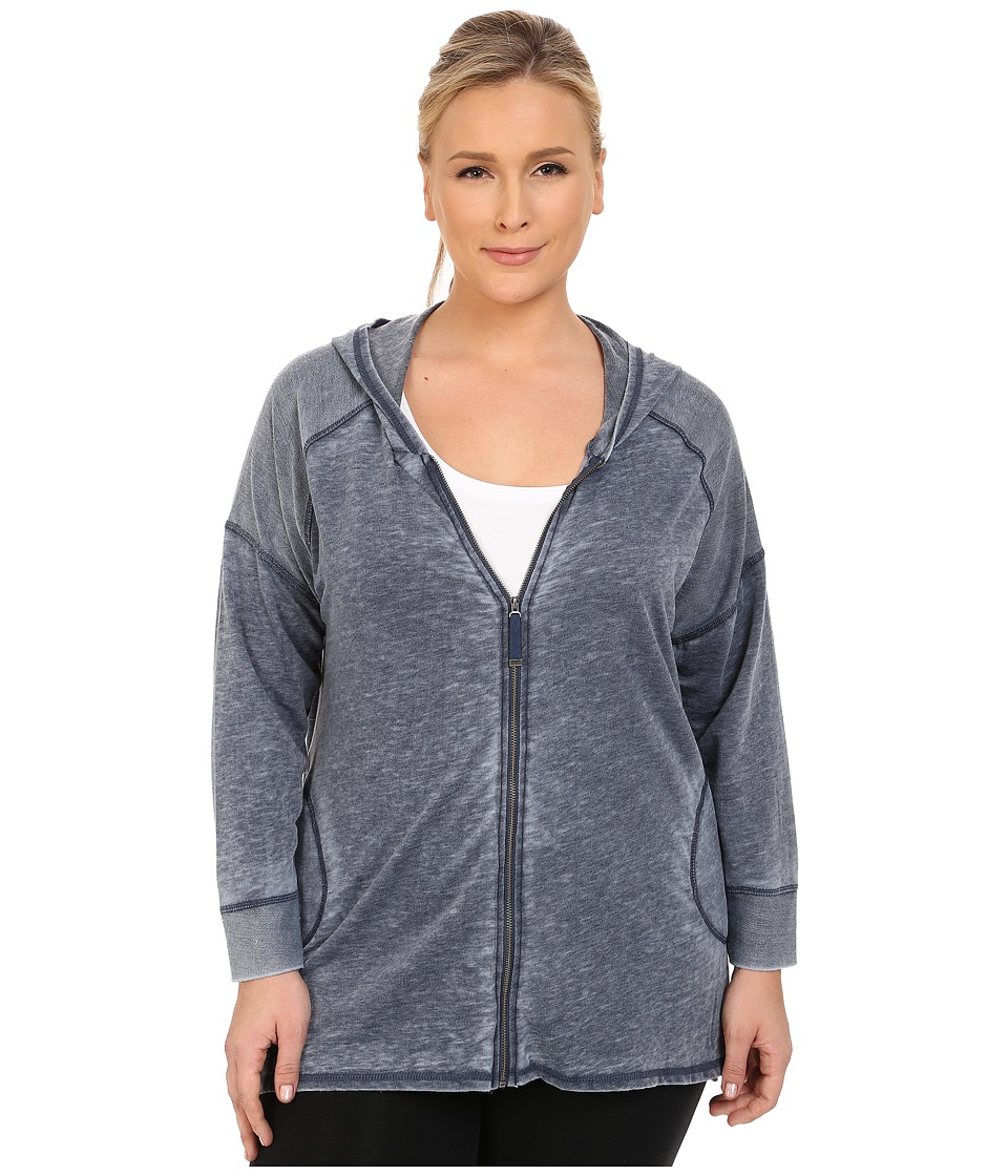 Marika Curves - Plus Size Ashburn French Terry Jacket (Heather Black Iris) Women's Coat