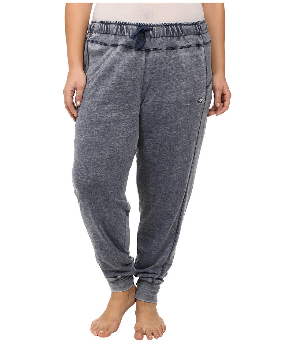 Marika Curves - Plus Size Belmont French Terry Jogger (Heather Black Iris) Women's Casual Pants