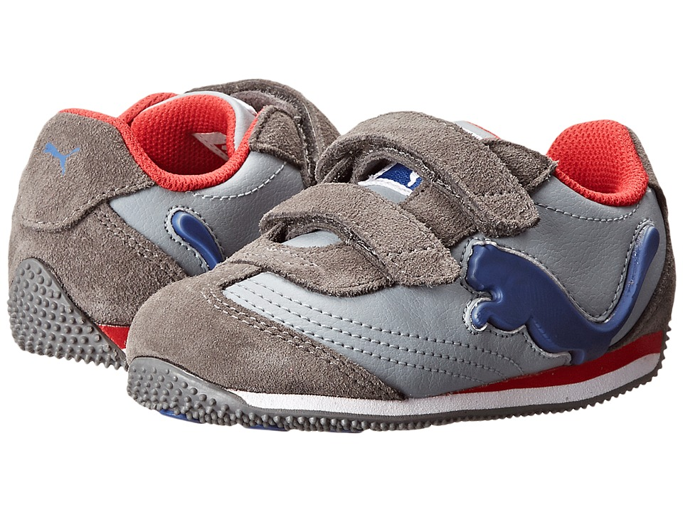 Puma Kids - Speeder Illuminescent V (Toddler/Little Kid/Big Kid) (Tradewinds/Steel Gray/Limoges) Boys Shoes