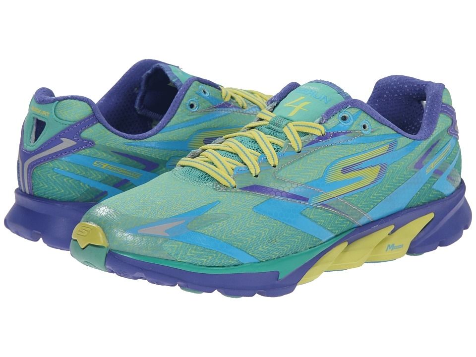 SKECHERS - Go Run 4 (Green/Purple) Women's Running Shoes