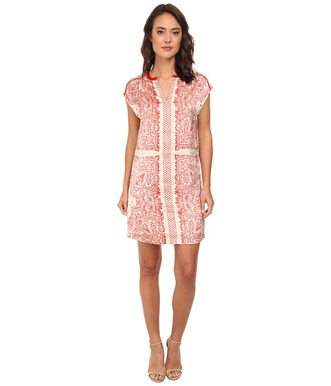 Maison Scotch - Bandana Printed Shift Dress (Red) Women's Dress