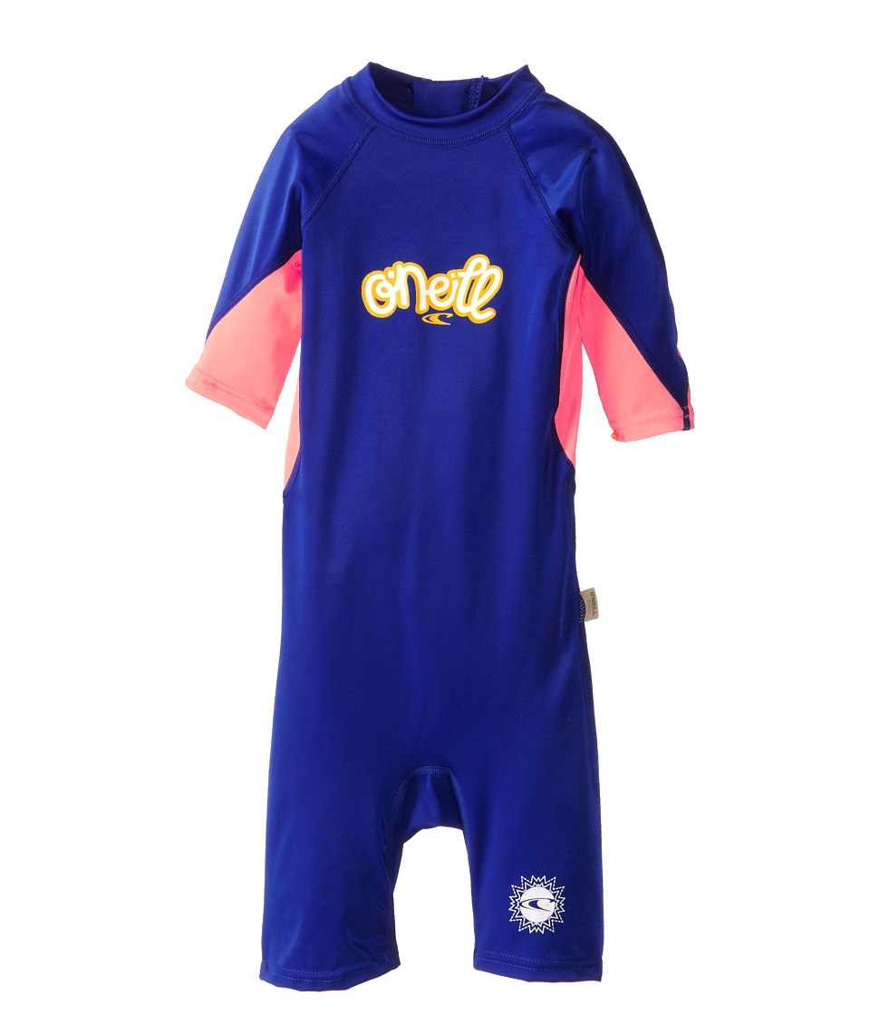 O'Neill Kids - O'Zone Spring (Infant/Toddler/Little Kids) (Cobalt/Papaya/White) Girl's Wetsuits One Piece