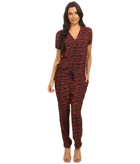 Maison Scotch - Viscose Crepe All-In-One (Red) Women's Jumpsuit & Rompers One Piece
