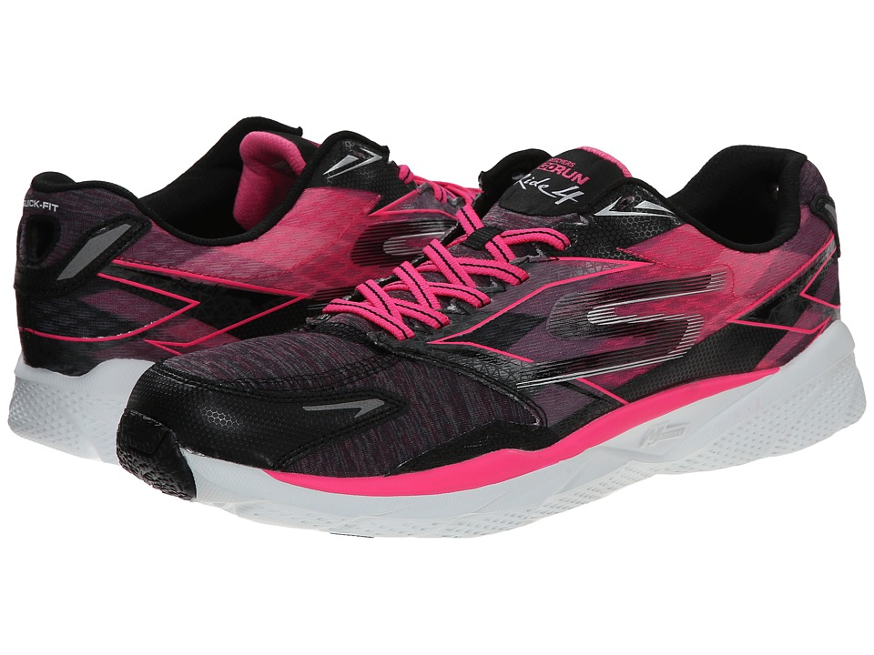 SKECHERS - Go Run Ride 4 - Excess (Black/Hot Pink) Women's Running Shoes