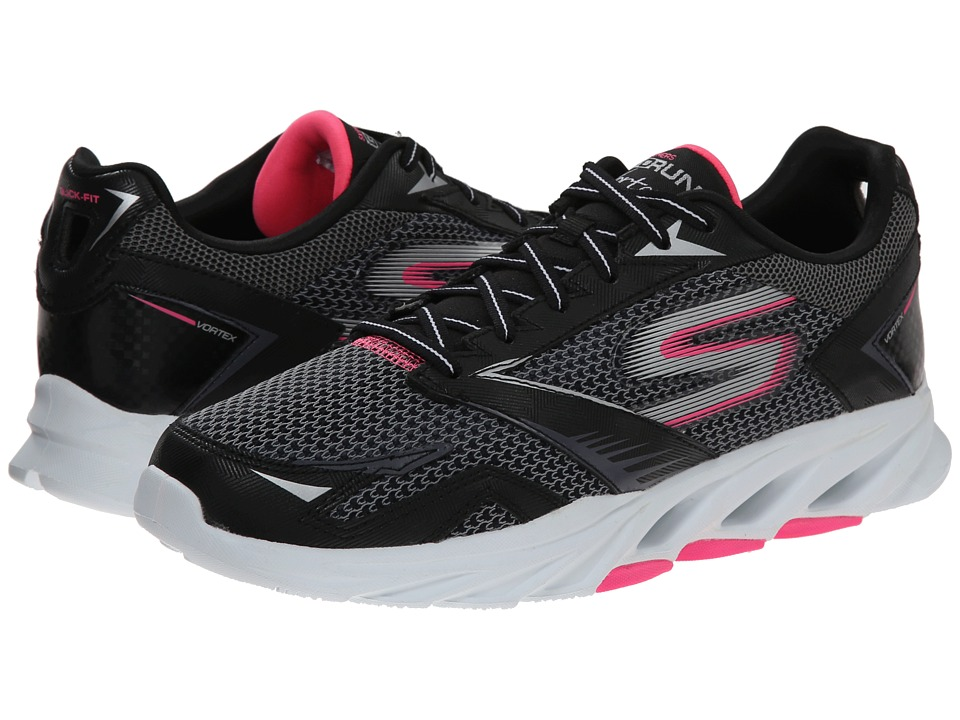 SKECHERS - Go Run Vortex (Black/Hot Pink) Women's Running Shoes