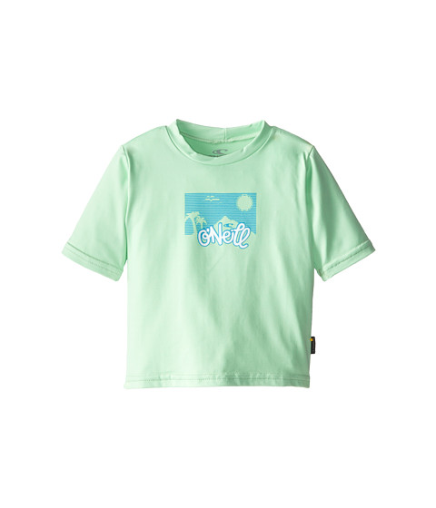 O'Neill Kids - Skins Short Sleeve Rash Tee (Infant/Toddler/Little Kids) (Mint) Girl's Swimwear