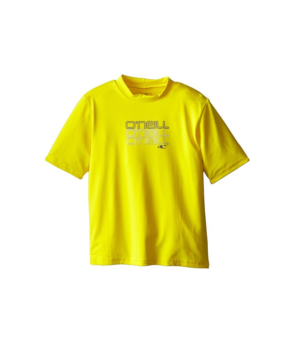 O'Neill Kids - Skins Short Sleeve Rash Tee (Infant/Toddler/Little Kids) (Yellow) Boy's Swimwear