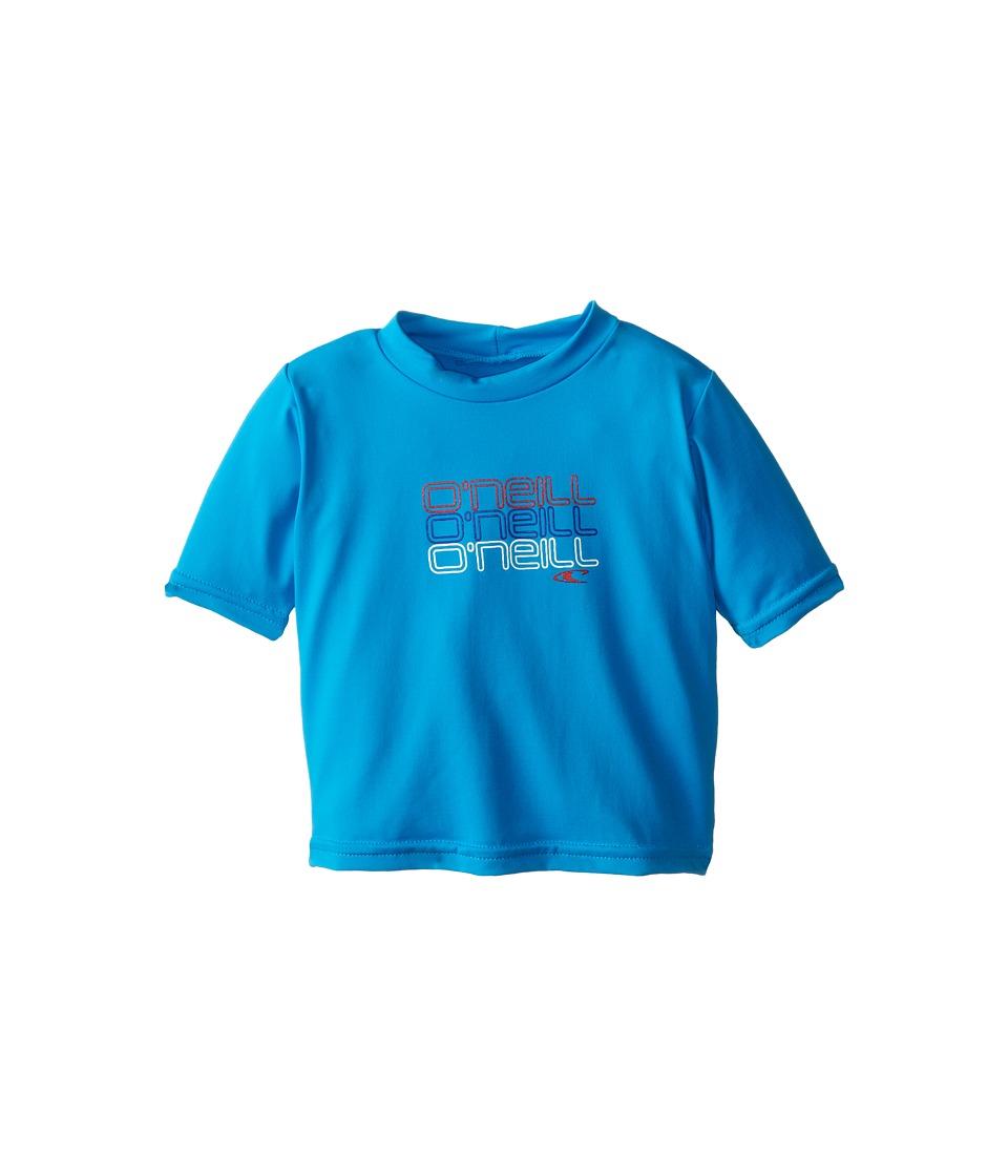 O'Neill Kids - Skins Short Sleeve Rash Tee (Infant/Toddler/Little Kids) (Sky) Boy's Swimwear