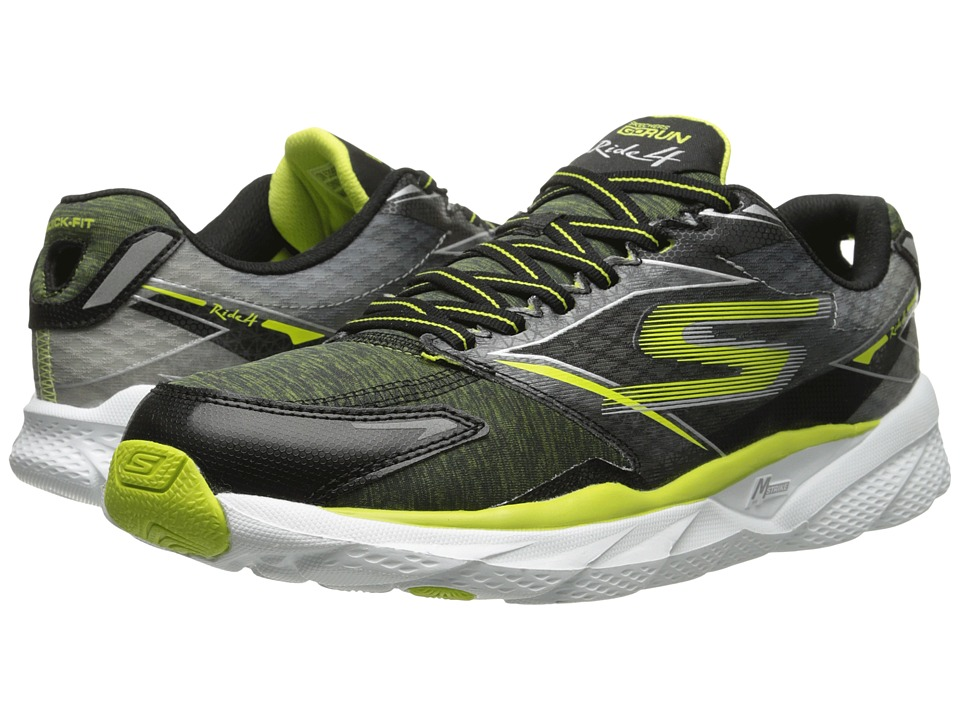 SKECHERS - Go Run Ride 4 - Excess (Black) Men's Running Shoes