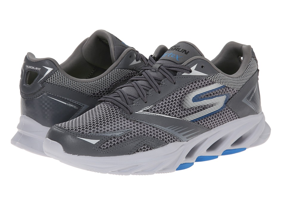 SKECHERS - Go Run Vortex (Charcoal/Blue) Men's Running Shoes