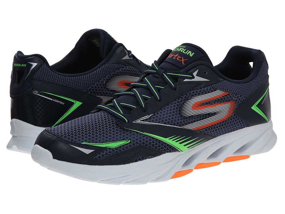 SKECHERS - Go Run Vortex (Navy/Orange) Men's Running Shoes