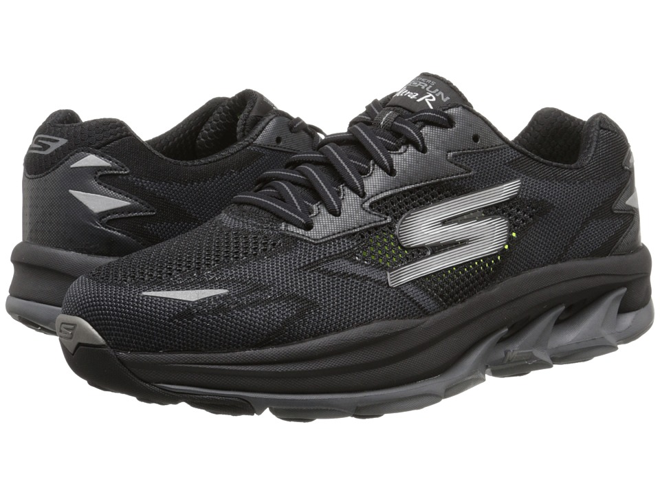 SKECHERS - Go Run Ultra - Road (Black/Gray) Men's Running Shoes